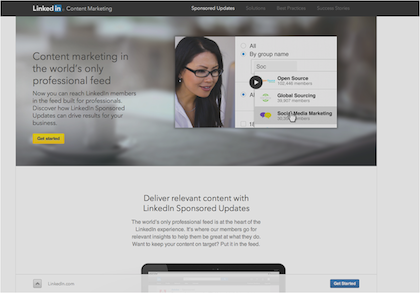 LinkedIn Sponsored Updates Learn More